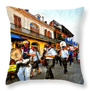 Jazz Funeral II Throw Pillow
