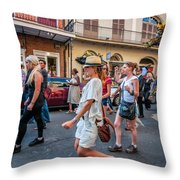 Jazz Funeral...the Second Line 4 Throw Pillow
