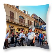Jazz Funeral...the Second Line   Throw Pillow