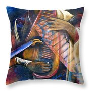 Jazz In Space Throw Pillow