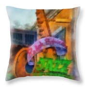 Jazz Kitchen Signage Downtown Disneyland Photo Art 01 Throw Pillow