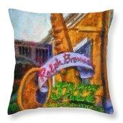 Jazz Kitchen Signage Downtown Disneyland Photo Art 02 Throw Pillow