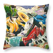 Jazz No. 3 Throw Pillow