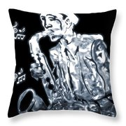 Jazz Notes Throw Pillow by Dan Sproul