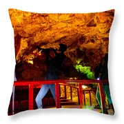Jazz On The Caverns Throw Pillow