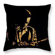 Jazz Player From New Orleans Throw Pillow