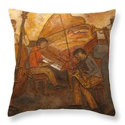 Jazz Quartet Throw Pillow