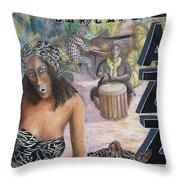 Jazz Throw Pillow