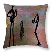 Jazz Trio 3 Throw Pillow