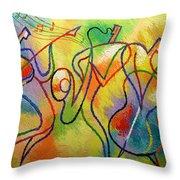Jazzband 21 Throw Pillow