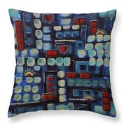 Jazzy Love Throw Pillow