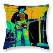 Jb #15 Enhanced In Cosmicolors Crop 2 Throw Pillow