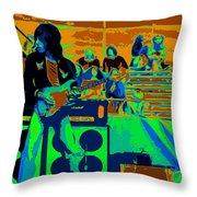 Jb #33 Enhanced In Cosmicolors Throw Pillow