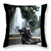 J.c.nichols Fountain 1 Kc.mo Throw Pillow