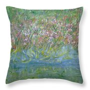 je t'aime Monet Throw Pillow