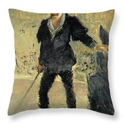 Jean Baptiste Faure In The Opera Hamlet By Ambroise Thomas Throw Pillow
