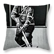 Jean Beliveau Throw Pillow
