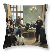 Jean Charcots Clinic Throw Pillow