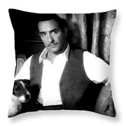 Jean Dujardin In The Film The Artist Throw Pillow
