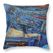 Jean Junkie Throw Pillow