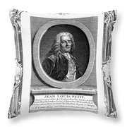 Jean Louis Petit (1674-1750) Throw Pillow