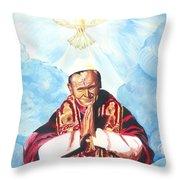Jean Paul II Throw Pillow