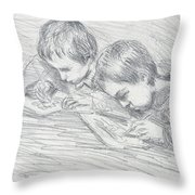 Jean Pierre Hoschede And Michel Monet Throw Pillow