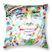 Jean Renoir Watercolor Portrait Throw Pillow