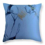 Jeannette En Barbara Throw Pillow