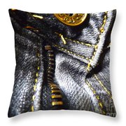 Jeans - Abstract Throw Pillow