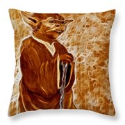 Jedi Master Yoda Digital From Original Coffee Painting Throw Pillow