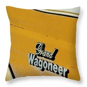 Jeep Grand Wagoneer Side Emblem Throw Pillow