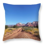 Jeep Trail Throw Pillow
