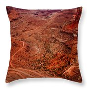 Jeep Trails Throw Pillow