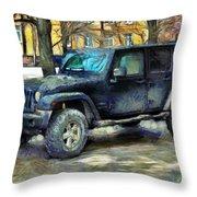 Jeep Wrangler Throw Pillow