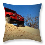Jeepin' The Mojave Throw Pillow