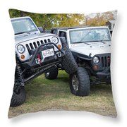 Jeeps In Juxtaposition Throw Pillow