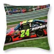 Jeff Gordon Throw Pillow