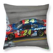 Jeff Gordon Dupont Chevrolet Throw Pillow by Paul Kuras
