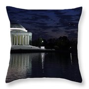 Jefferson At Dusk0253 Throw Pillow