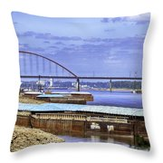 Jefferson Barracks Bridge A View From Cliff Cave Throw Pillow