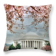 Jefferson Blossoms Throw Pillow