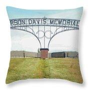 Jefferson  Davis Memorial Park Throw Pillow