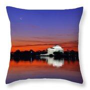 Jefferson Memorial At Dawn Throw Pillow