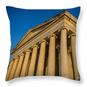 Jefferson Memorial Oblique Throw Pillow
