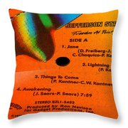 Jefferson Starship Side A Throw Pillow