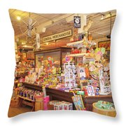 Jefferson Texas General Store Throw Pillow
