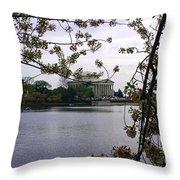 Jefferson Through The Trees Throw Pillow