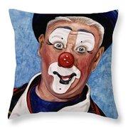 Watercolor Clown #11 Jeffrey Potts  Throw Pillow