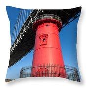 Jeffrey's Hook Lighthouse I Throw Pillow